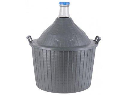 Demižón Cada Inco 54 lit, sklo/plast, 650x520/405 mm