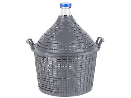 Demižón Cada Inco 15 lit, sklo/plast, 450x350/270 mm  + VOUCHER - zľavový kupón