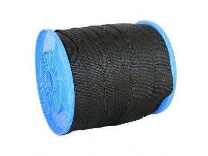 Popruh Strend Pro WR50, 50 mm, čierny, 50 m, PP, 370 kg