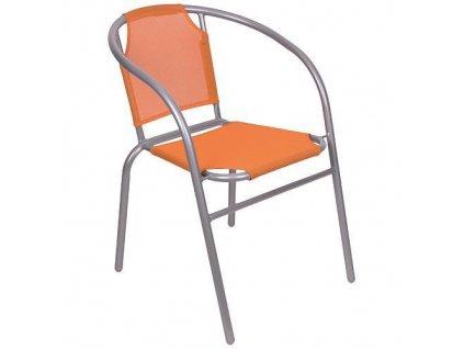Stolicka BRENDA, oranžová, 60x71 cm