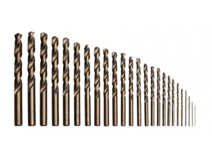 Vrtáky HSS-Co, sada 25 ks, 1 - 13 mm