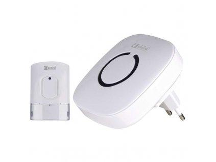 Domový bezdrôtový zvonček 838W biely  + VOUCHER - zľavový kupón