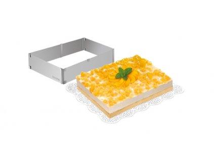 Nastaviteľná forma na tortu obdĺžníková DELÍCIA