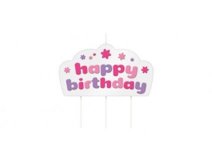 Tortová sviečka DELÍCIA KIDS, Happy birthday