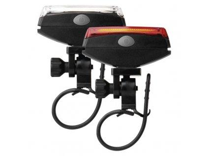 LED predné + zadné sviet. na bicykel P3922 na 2×CR2032,22 lm