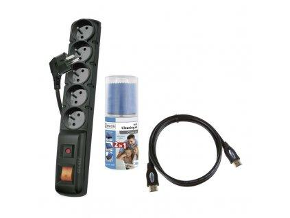 Set čistiacich prostriedkov + prepäťová ochrana + HDMI kábel