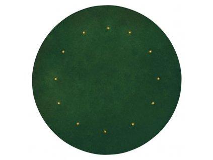LED podložka pod vianočný strom, zelená, 1m, časovač