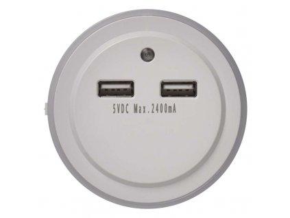 LED nočné svetlo P3313 do zásuvky s 2× USB
