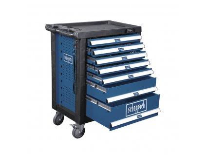SCHEPPACH TW 1000 dielenský vozík s náradím, 7 zásuviek, 263 dielov  + SERVIS EXCLUSIVE