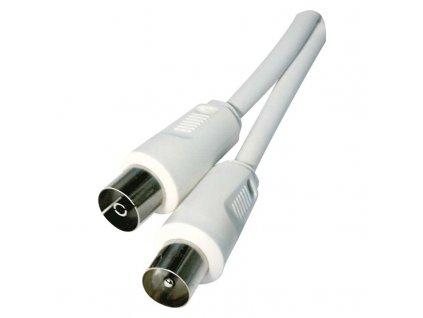 Anténny koaxiálny kábel tienený 7,5m - rovná vidlice