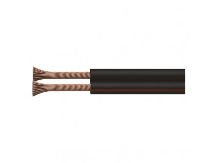 Dvojlinka ECO 2×1,5mm, čierno/červená, 100m