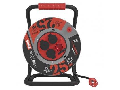 Guma-neoprén predlž. kábel, bubon kovový – 4z, 25m, 1,5mm2