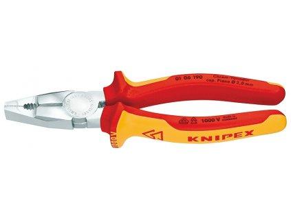 KNIPEX Kombinované kliešte Chróm-vanadium 190  SERVIS EXCLUSIVE
