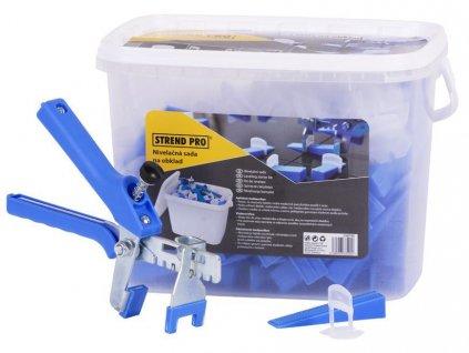Sada nivelacna Strend Pro LS515, 100 ks 1,5 mm medzernikov, 100 ks klinok + kliešte, StarterKIT