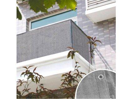 DEMA Balkónová zástena 90x600 cm, šedá