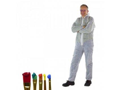 DEMA Jednodielny pracovný ochranný oblek biely 40 g/qm PP, veľkosť XXL