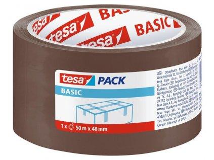 Paska tesa® BASIC, baliaca, lepiaca, hnedá, 48 mm, L-50m
