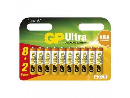 GP alkalická batéria ULTRA AA (LR6) 8+2BL