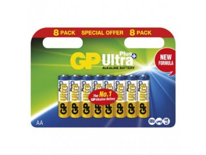 GP alkalická batéria ULTRA PLUS AA (LR6) 8BL