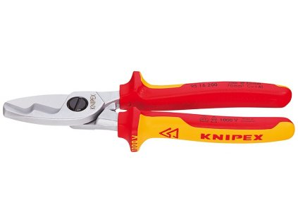KNIPEX Káblové nožnice s dvojitým britom  200  SERVIS EXCLUSIVE