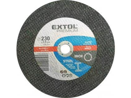 Kotúč rezný na oceľ a antikoro, 230x1,9mm, EXTOL PREMIUM