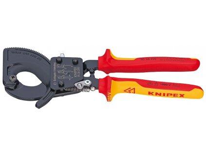 KNIPEX Kliešte na káble (princíp rohatky so západkou) 250  SERVIS EXCLUSIVE