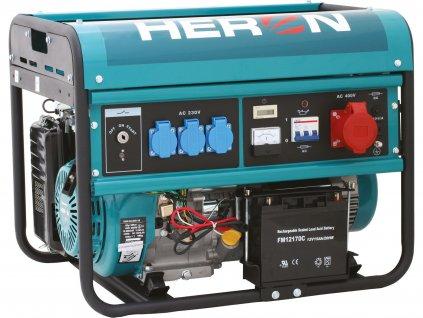 BEZ KRABICE Elektrocentrála benzínová EGM 60 AVR-3E, 400V/230V, 6,0kW/2,2kW, 13HP, elektrický štart