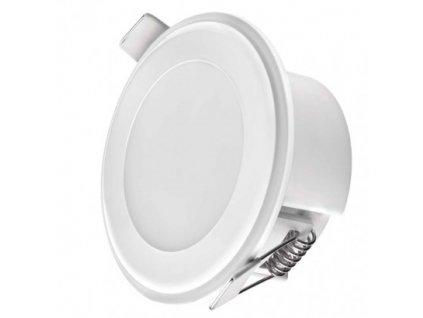 LED panel 2v1 82mm, kruhový prisadený/vstavaný, 5,5W tepl.b.