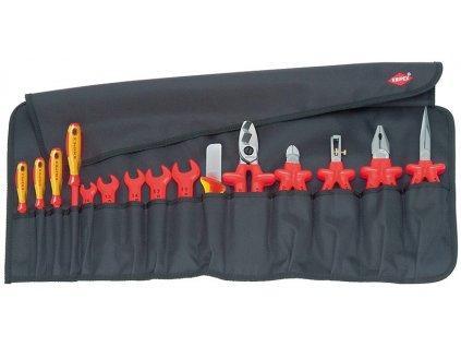 KNIPEX Zvinovacie taška 15-dielna  + SERVIS EXCLUSIVE