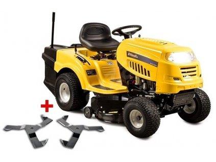 Riwall RLT 92 T POWER KIT trávny traktor so zadným vyhadzovaním a 6-ti stupňovou prevodovkou Trensmatic