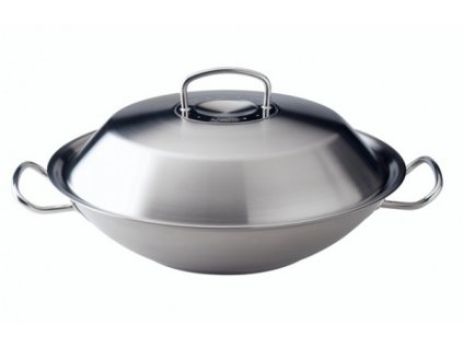 Fissler Original profi collection Panvica WOK nerezová s pokrievkou, 30 cm