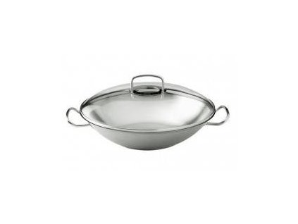 Fissler Original profi collection Panvica WOK nerezová s pokrievkou, 35 cm