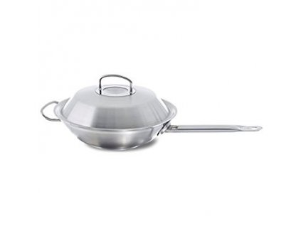 Fissler Original-profi collection wok z ušľachtilej ocele s pokrievkou 30 cm