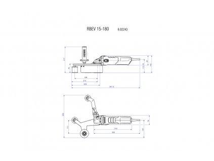 Metabo RBE 15-180 Set 1550-Wattová Pásová brúska na rúry