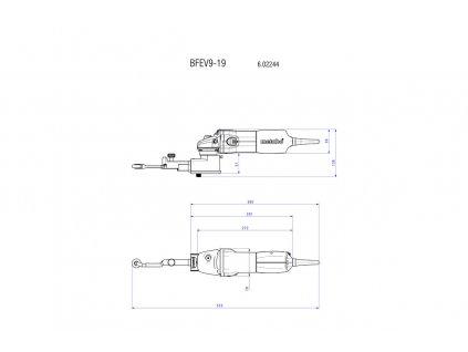 Metabo BFE 9-20 Set 950-Wattový Pásový pilník