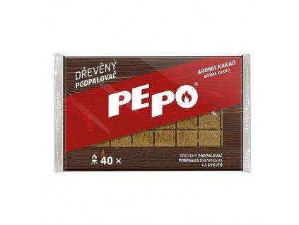 Podpaľovač PE-PO®, drevný, 40 podpaľov NEW