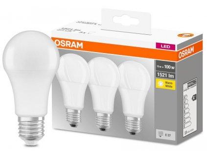 Žiarovka OSRAM® LED FR 100 (ean 9412) non-dim 13W/827 E27 2700K MULTIPACK bal. 3 ks, Star Classic A