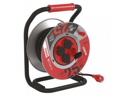Guma-guma predlž. kábel, bubon kovový – 4z, 25m, 1,5mm2