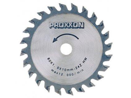 PROXXON Rezací kotúč s tvrdokovovou doštičkou 85 x 1,5 x 10mm - 24 zubov .(28734)