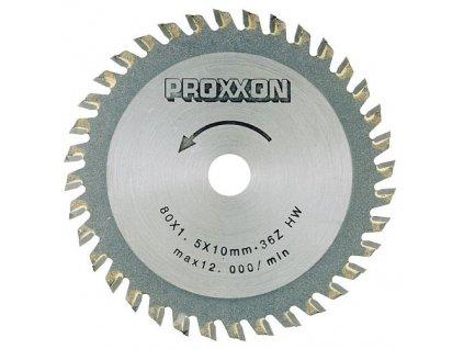 PROXXON Rezací kotúč s tvrdokovovou doštičkou 85 x 1,5 x 10mm - 36 zubov .(28732)