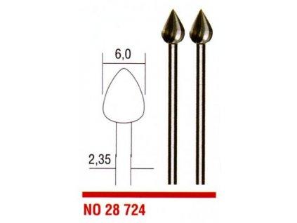 PROXXON Stopkové frézy z wolfrám-vanádiovej ocele 6,0mm - kvapka 28724
