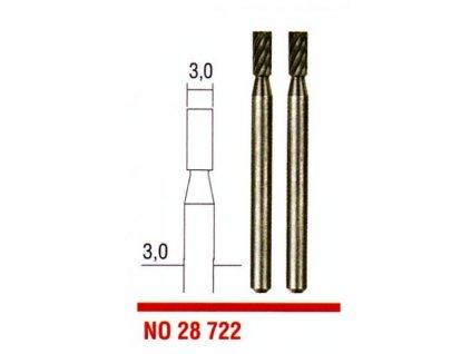 PROXXON Stopkové frézy z wolfrám-vanádiovej ocele 3,0mm - valec 28722  + SERVIS EXCLUSIVE