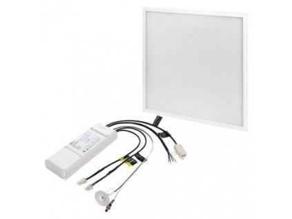 LED panel 60×60, štvorcový vstavaný biely, 40W neutrálna b., Emergency