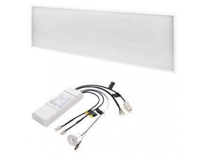 LED panel 30×120, obdĺžnikový vstavaný biely, 40W neutr. b., Emergency