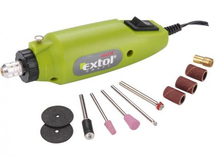 EXTOL CRAFT Brúska priama mini s transformátorom, 12V, 12000ot/min  SERVIS EXCLUSIVE