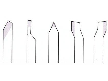PROXXON Sústružnícke nože z kobaltovej HSS ocele 10x10x80mm - 5 dielna sada .(24550)  + SERVIS EXCLUSIVE
