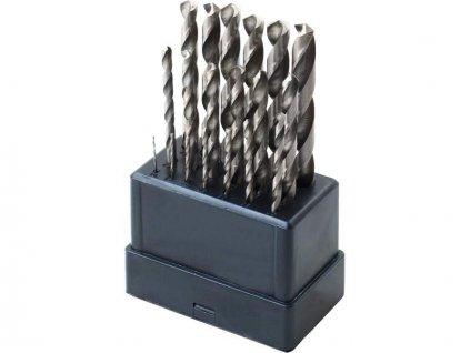 EXTOL CRAFT Vrtáky do kovu HSS, 19-dielna sada, pr.1-10mm, podbrúsená špička