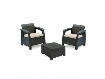 keter corfu 2 seater balcony set plastic rattan p32 232 medium