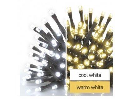 Standard LED spojovacia vianočná reťaz, 10 m, vonkajšia, teplá/studená biela, časovač