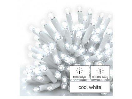 Profi LED spojovacia reťaz blikajúca biela – cencúle, 3 m, vonkaj., studená biela, časovač
